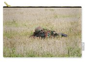 Belgian Paratroopers On Guard Carry-all Pouch by Luc De Jaeger