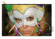 Blond Woman With Mask Carry-all Pouch