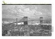 Brooklyn Bridge, 1883 Carry-all Pouch