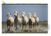 Camargue Horse Equus Caballus Group Carry-all Pouch