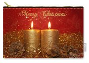 2 Candles Christmas Card Carry-all Pouch