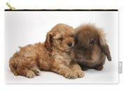 Cockerpoo Puppy And Rabbit Carry-all Pouch
