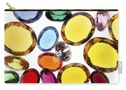 Colorful Gems Carry-all Pouch by Setsiri Silapasuwanchai