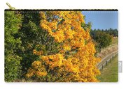 Country Road And Autumn Landscape Carry-all Pouch