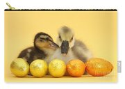 Embden X Greylag Gosling And Mallard Carry-all Pouch