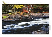 Fall Forest And River Landscape Carry-all Pouch by Elena Elisseeva