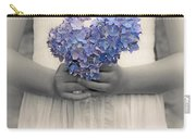 Girl With Hydrangea Carry-all Pouch by Joana Kruse