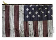 Grungy Textured Usa Flag Carry-all Pouch