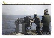 Gunner Fires A Mark 38 Machine Gun Carry-all Pouch