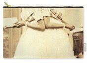 2 Headed Girl Millie-chrissie Carry-all Pouch by Photo Researchers