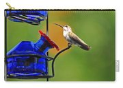 Hummer At The Feeder Carry-all Pouch
