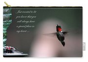 Hummingbird Card Carry-all Pouch