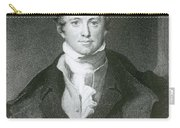 Humphry Davy, English Chemist Carry-all Pouch