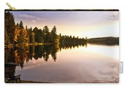 Lake Sunset With Canoe On Beach Carry-all Pouch