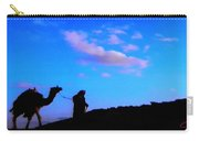 2 Late Evening Beduin Camel Walk In The Desert  Carry-all Pouch