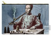 Man Smoking Opium Carry-all Pouch by Science Source