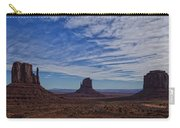 Morning Clouds Over Monument Valley Carry-all Pouch