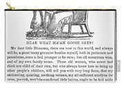 Mother Goose, 1833 Carry-all Pouch by Granger
