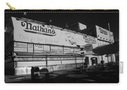 Nathan's Famous In Black And White Carry-all Pouch