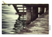 Old Wooden Pier With Stairs Into The Lake Carry-all Pouch