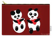 2 Pandas In Love Carry-all Pouch