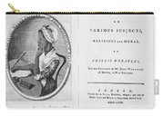 Phillis Wheatley, African-american Poet Carry-all Pouch by Photo Researchers