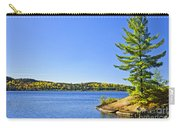 Pine Tree At Lake Shore Carry-all Pouch