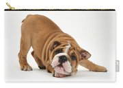 Playful Bulldog Pup Carry-all Pouch