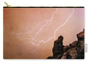 Praying Monk Camelback Mountain Lightning Monsoon Storm Image Tx Carry-all Pouch by James BO  Insogna