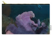 Purple Elephant Ear Sponge With Diver Carry-all Pouch