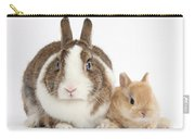 Rabbit And Baby Bunny Carry-all Pouch