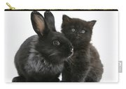 Rabbit And Kitten Carry-all Pouch