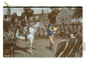 Reading The Declaration Of Independence Carry-all Pouch by Photo Researchers