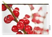 Red Christmas Berries Carry-all Pouch by Elena Elisseeva