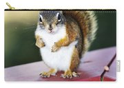 Red Squirrel On Railing Carry-all Pouch
