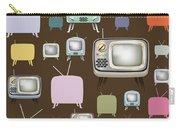 retro TV pattern  Carry-all Pouch by Setsiri Silapasuwanchai