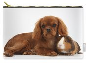 Ruby Cavalier King Charles Spaniel Pup Carry-all Pouch