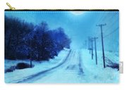 Rural Road In Winter Carry-all Pouch