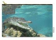 Saltwater Crocodile Crocodylus Porosus Carry-all Pouch