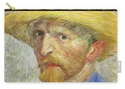Self Portrait Carry-all Pouch by Vincent van Gogh