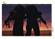 Silhouette Of U.s Marines On A Bunker Carry-all Pouch