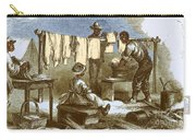 Slaves In Union Camp Carry-all Pouch by Photo Researchers