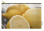 Still Life Of Bottles  And Lemons Carry-all Pouch