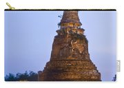 Stupa Chedi Of A Wat In Ayutthaya Thailand Carry-all Pouch