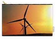 Sun Glare Upon Alberta Windfarm Carry-all Pouch