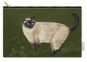 Sweetest Siamese Carry-all Pouch by Leslie Allen