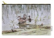 Teal Ducks Carry-all Pouch