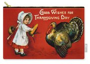Thanksgiving Card, 1900 Carry-all Pouch