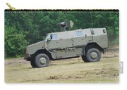 The Dingo 2 In Use By The Belgian Army Carry-all Pouch by Luc De Jaeger