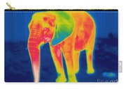 Thermogram Of An Elephant Carry-all Pouch